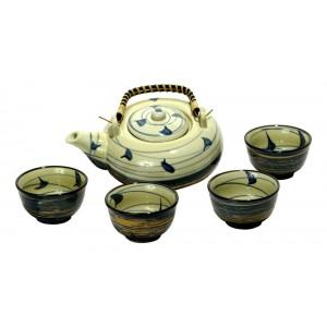 5PCS TEA SET- BLUE_AA14094-B
